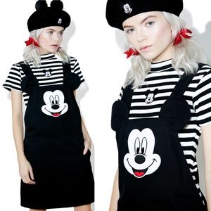 Lazy Oaf x Disney Mickey Mouse Pinafore overalls